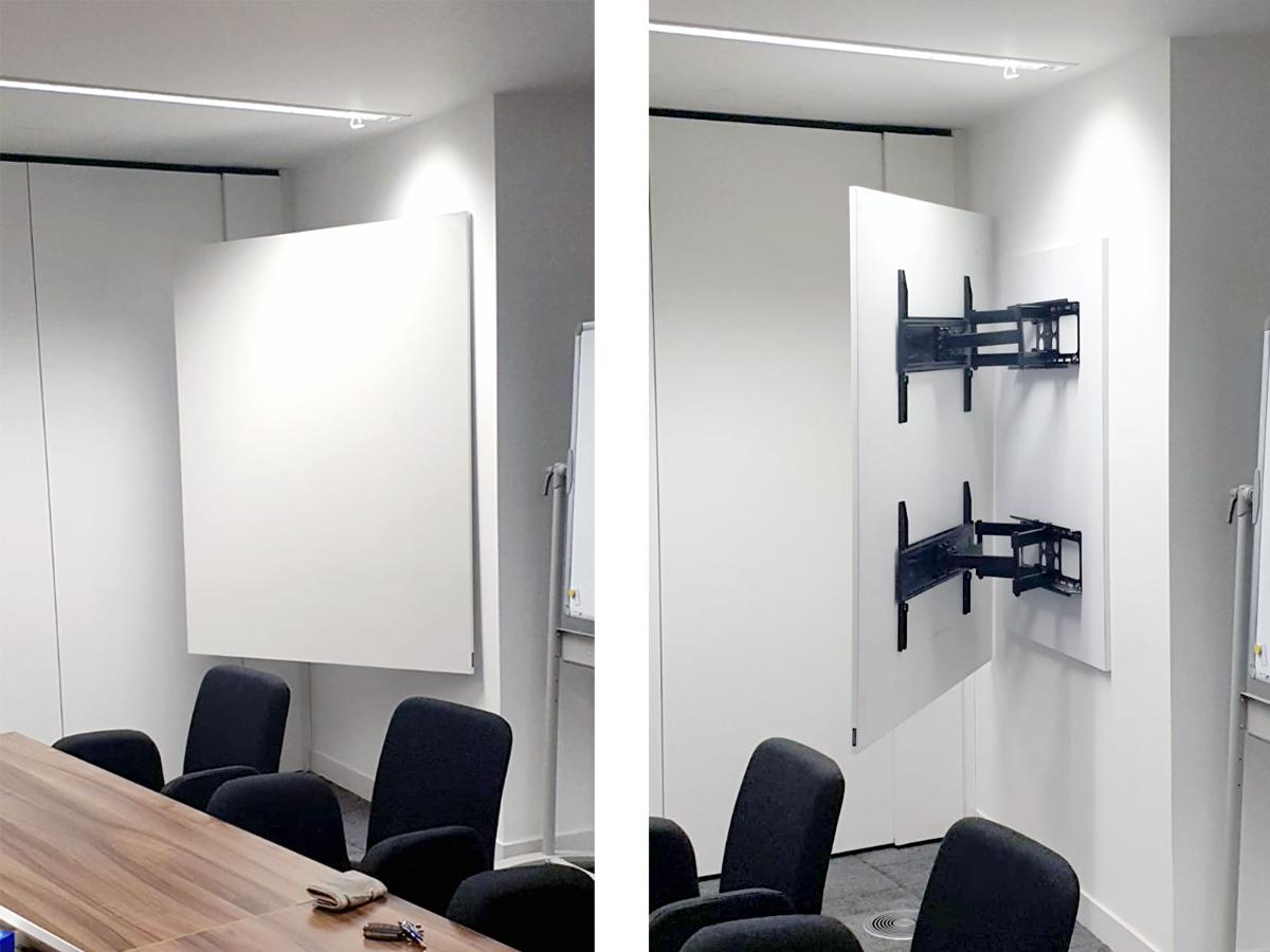 wall mounted swivel whiteboard