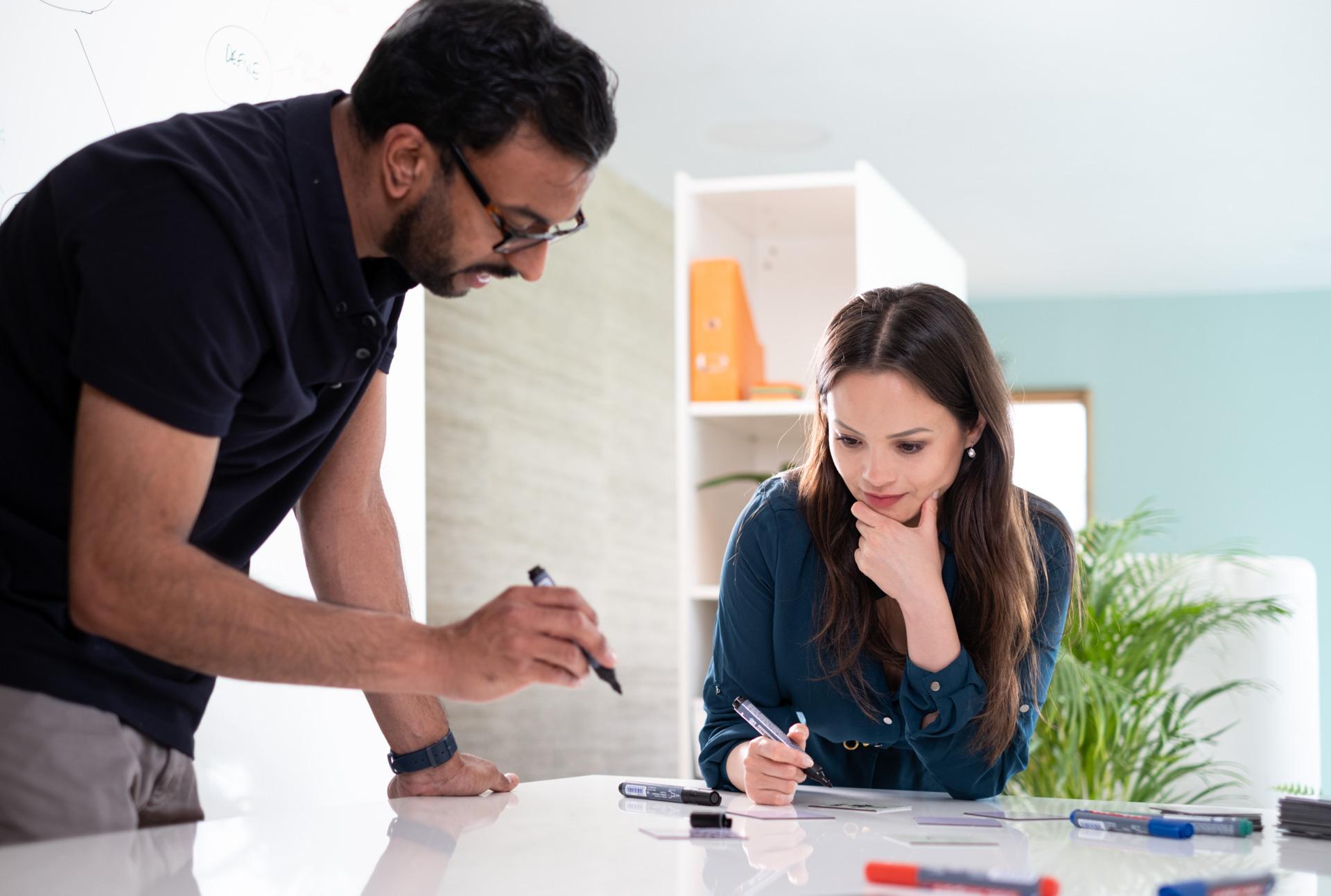 ThinkingWall whiteboard desk collaboration