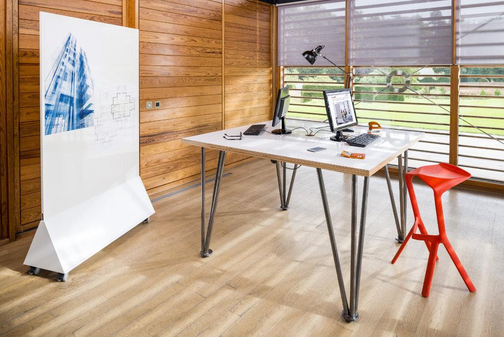standing height dry wipe desk