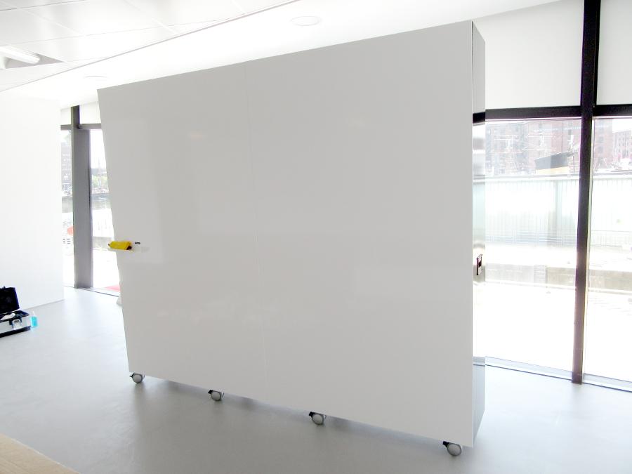 mobile whiteboard wall